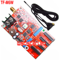 TF TF-M6W 1024*32 & 512*64 pixels WIFI comunicação LED controller card Single & Dual color LED placa de carro tela de 2 pçs/lote