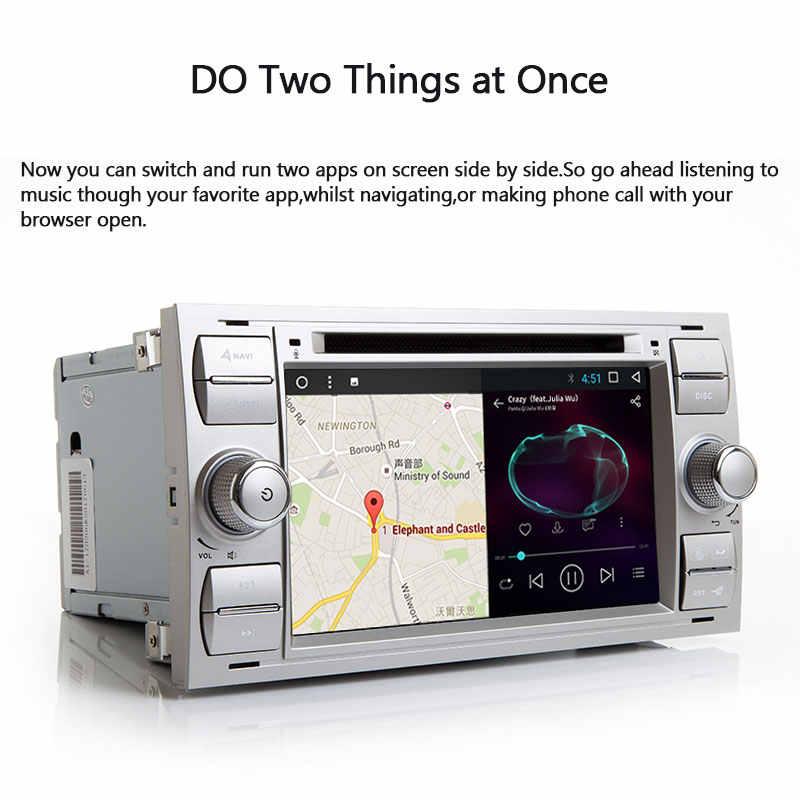 2 din auto Radio Multimedia para Ford Focus 2 3 mk2 Mondeo 4 Kuga Fiesta Transit Connect S-MAXC-MAX DVDGPS navegación estéreo de Audio