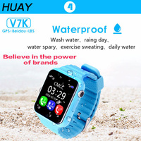 1pcs 2018 New GPS Tracking Watch Kids Waterproof Smart Watches Camera SOS Call Location Device Tracker