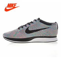 Original New Arrival Authentic Nike Flyknit Racer Men's Running Shoes Shock-absorbing Non-slip Breathable Sport Outdoor
