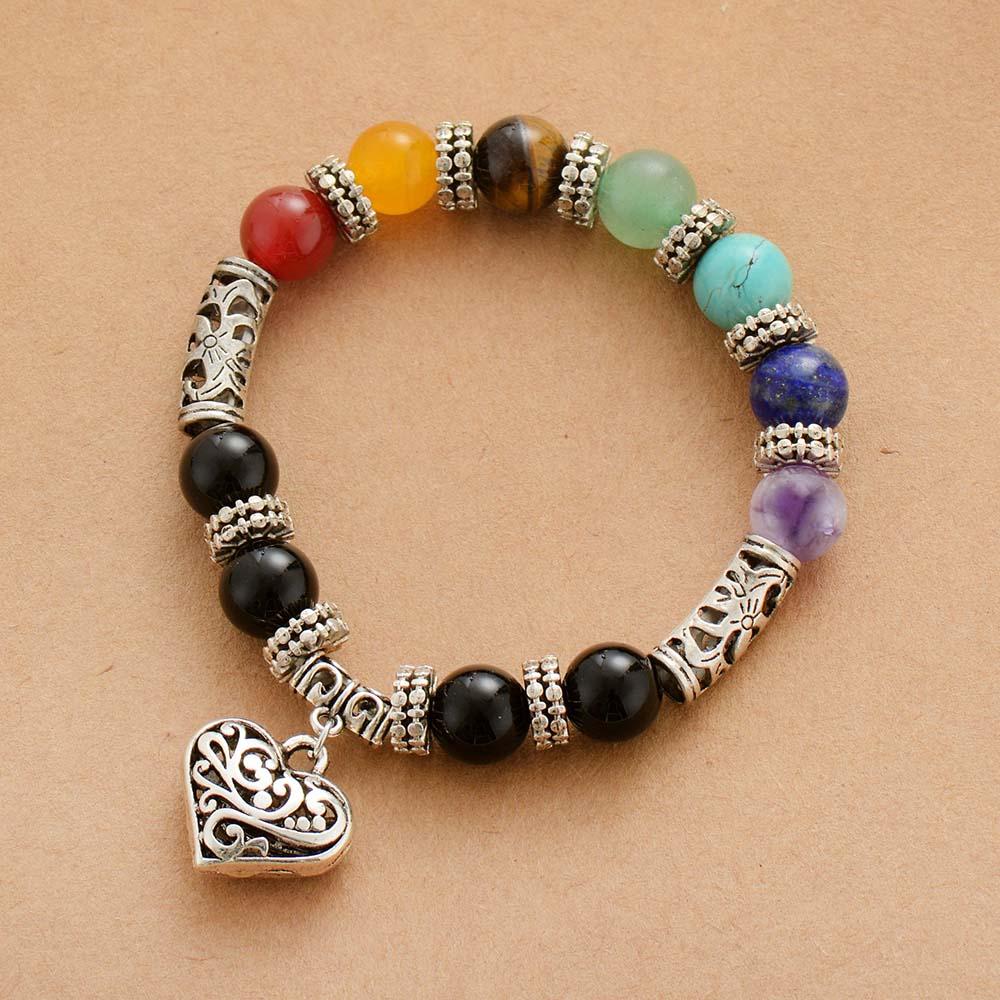 7 Chakra Bracelet Natural...