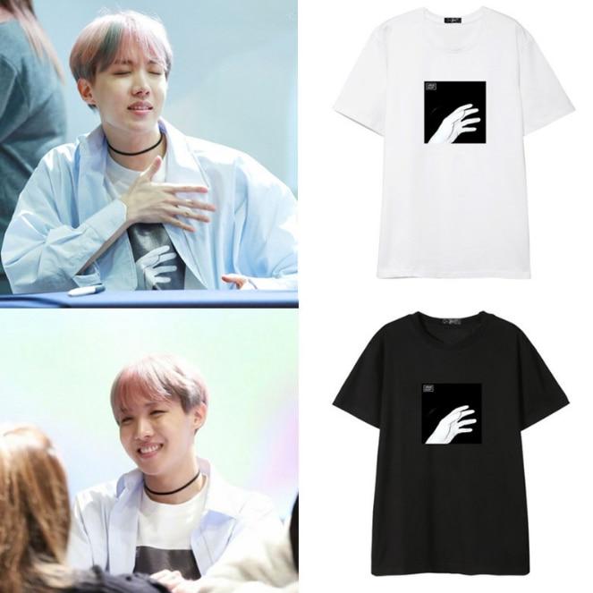 BTS Bangtan Boys Gruppe JHOPE Printed Gleiche Sommer Kurzarm T-shirt