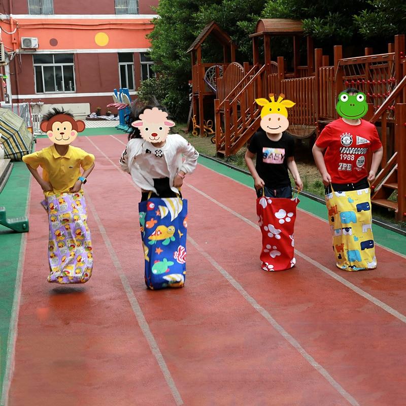 Jeux de plein air pour enfants sac de saut jouer à lextérieur jeux de sport pour enfants sac de pomme de terre sacs de course kangourou sac de saut