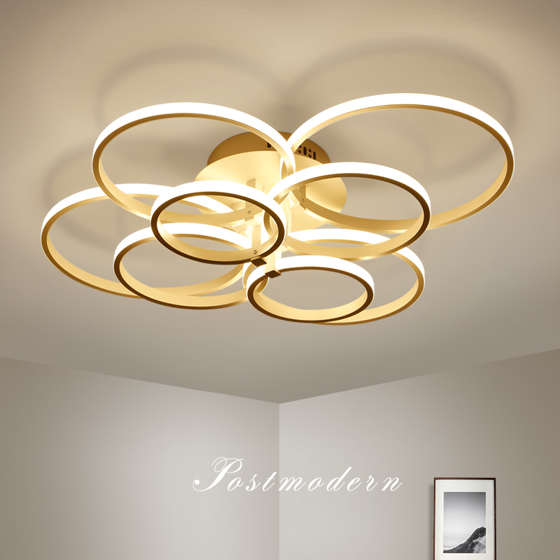 Aluminum Modern LED Ceiling chandelier for living room Ceiling installation Brown/White Remote Control chandelier lightingAluminum Modern LED Ceiling chandelier for living room Ceiling installation Brown/White Remote Control chandelier lighting