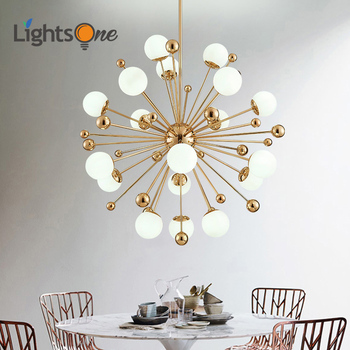 Nordic LED meal pendant lamps postmodern creative personality dandelion glass ball American simple bedroom lights