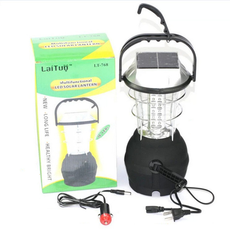 Portable LED solar camping light lampara led camping recargable household lantern emergency outdoor lighting super bright square portable solar lantern 4 modes rechargeable emergency led outdoor camping light black white