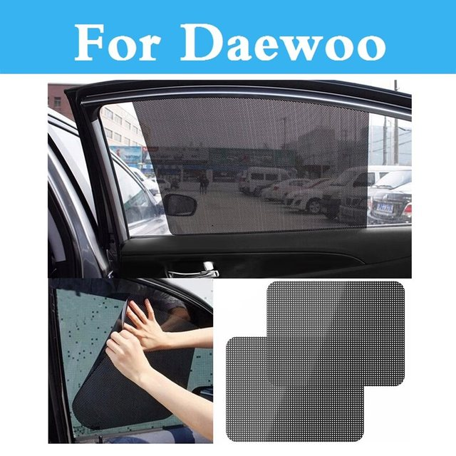 Black Auto Sun Visor Car Window Suction Cup Curtain Sunshade Covers For  Daewoo Sens Tosca Winstorm Matiz Nexia Nubira ea8ea239695