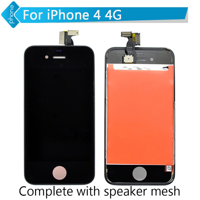 3.5 inch for iPhone 4 4S LCD Display Touch Screen Digitizer Assembly with Speaker Mesh Attached For iPhone 6 5S 5C 5 black white