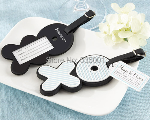 wedding favor and giveaways--Hugs & Kisses From Mr. & Mrs. X O Luggage Tags wedding bridal shower favors party gifts 100pcs/lot