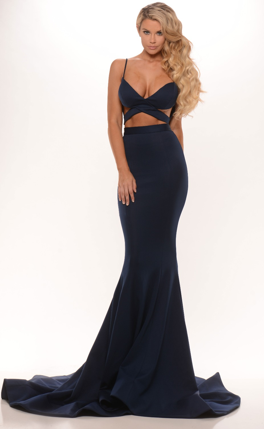 Sexy Big Fashion Bandage Bodycon Tall Women Two Piece Prom Party