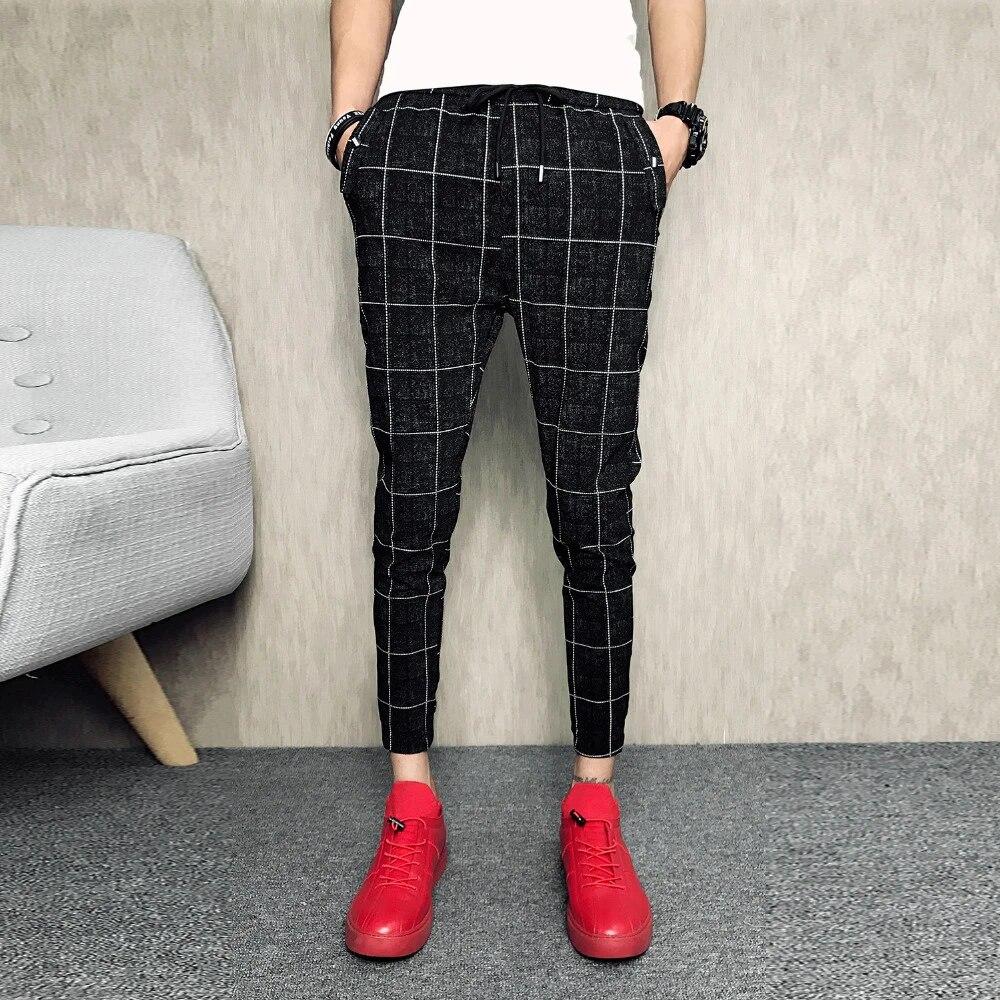 Mens Skinny Black Pants
