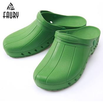 Men Women Anti-skid TPE Anti-acid Protective Work Shoes Doctor Nurse Hospital Medical Operating Surgical Shoes Sandals Slippers