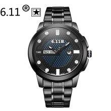 Relogio Masculino мужчины спортивные Часы повседневная Солнечных батареях часы 6.11 Бренд Класса Люкс из нержавеющей стали мода наручные часы relojes