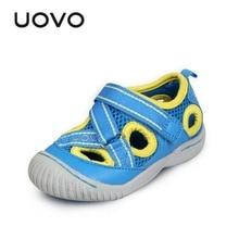 Garçons Sandales Marque UOVO Embout Rouge Gris Bleu Doux Plage chaussures Flip Flops Enfants D'été Chaussures UE25-33 Filles Garçons Sandales Marque