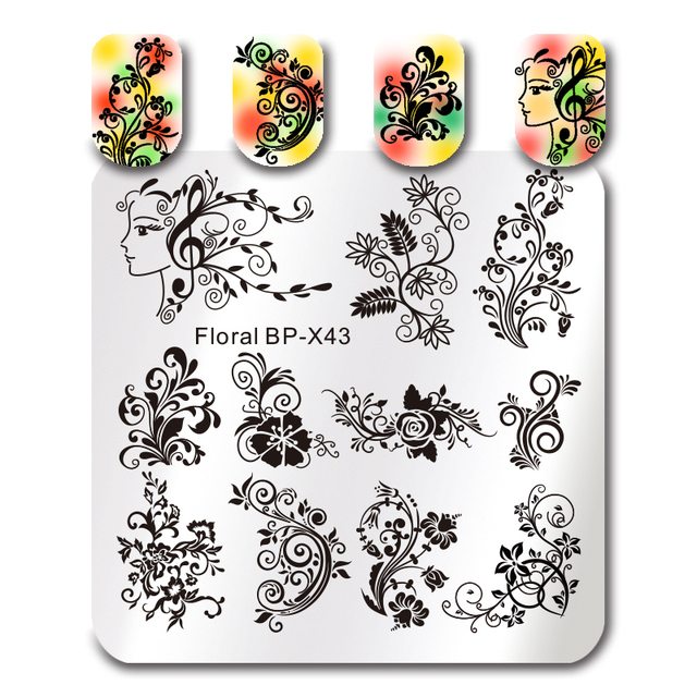 BORN PRETTY Rose Flower Nail Art Stamp Template Flower Mandala Butterfly Image Plate Nail Stamping Plate Manicure Tools