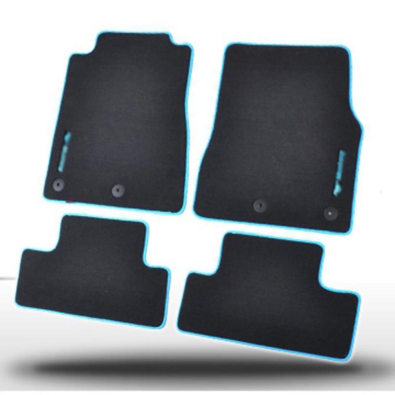 4pcs Premium Solid Nylon negro alfombras de piso del coche alfombra - Accesorios de interior de coche - foto 1