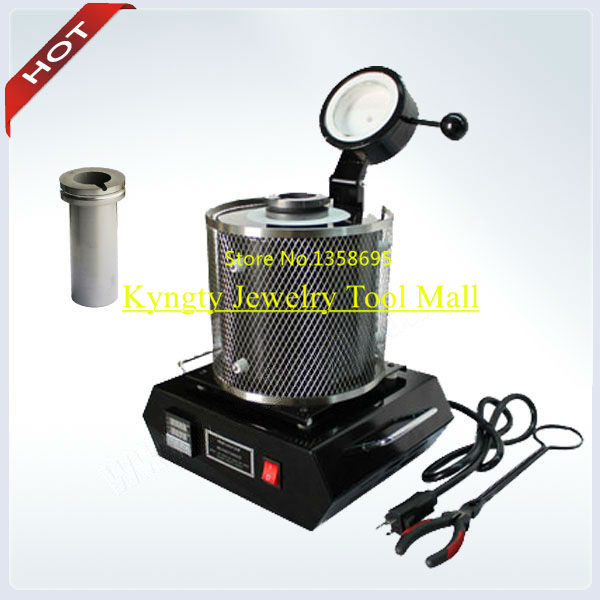 Jewelry Making Equipment tools Gold Silver Melting Furnace with TWO Graphite Crucibles and ONE Tongs Jewelry Tools Supplies 3kg