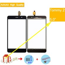 For Wiko Tommy 2 Tommy2 Touch Screen Panel Sensor Digitizer Front Outer Glass Touchscreen Tommy 2 Touch Panel Black Replacement цена