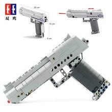 Fit leginess Technic серия охотничье короткоствольное оружие пистолет может огонь пули набор пустынный Орел и M23 строительные блоки игрушки для детей мальчиков подарки