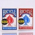 2 unids/set Nativo EE. UU. Cubierta de La Bicicleta Roja y Azul Mágica Regular Jinete Volver Estándar Naipes Cubiertas Truco de Magia 808 sellado Decks
