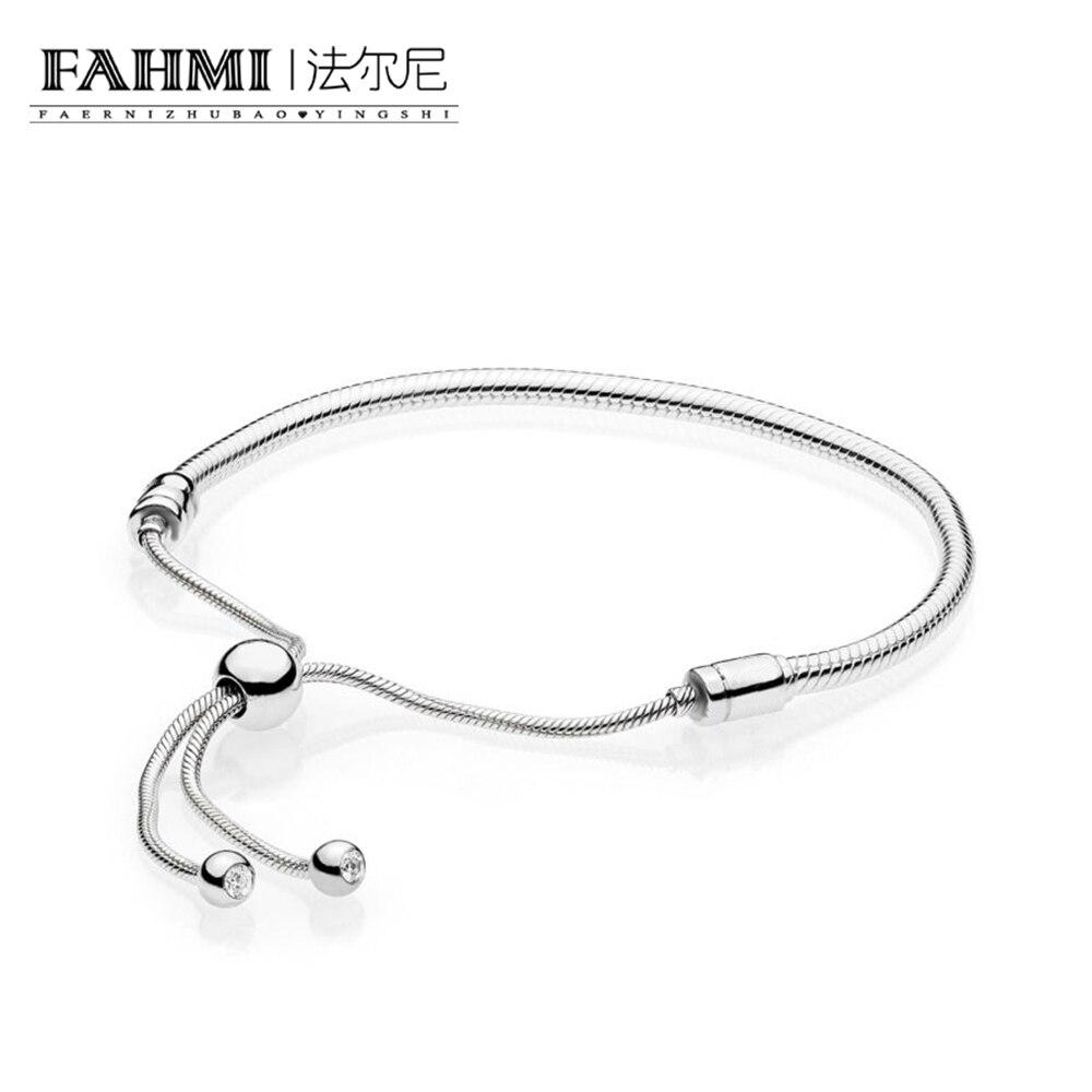 FAHMI 100% 925 argent Sterling 1:1 Original authentique 597125CZ charme de base Bracelet adapté bricolage perlé femmes bijoux