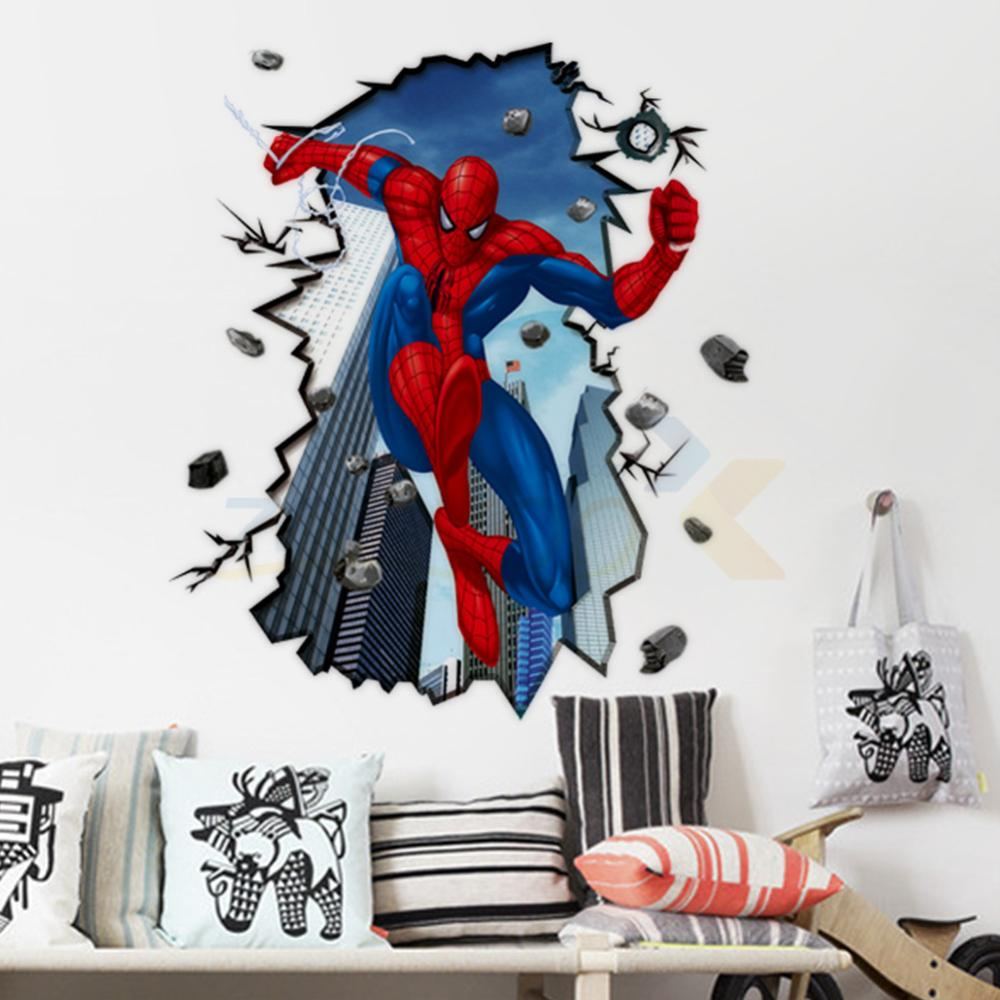 compare prices on superman wall decal online shoppingbuy low  - ay new  hot free shipping giant superman spiderman d wall sticker forkids rooms wall
