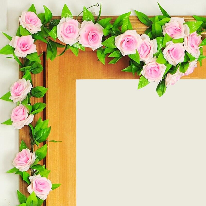Künstlich Rebe Unecht Blumen Dekor Girlande Startseite-Wand-Dekor 2,3 M Party