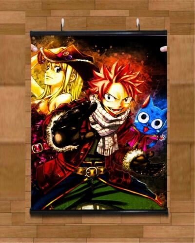 Anime Poster FAIRY TAIL Wall Scroll Printed Painting Home Decor Japanese Cartoon Decoration Poster