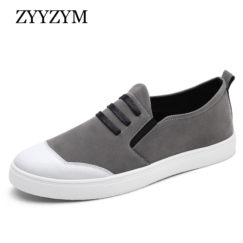 ZYYZYM Men Loafers Shoes Spring Autumn Low Style Fashion Trend Youth Flat With Rubber Man Casual Shoe 2018 New Arrival spring autumn casual men s shoes fashion breathable white shoes men flat youth trendy sneakers