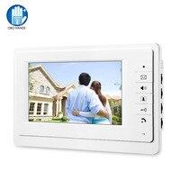 OBO Hands 7 дюймов TFT цветной видеодомофон проводной дверной звонок домофонный экран монитор для дома квартиры