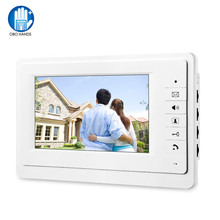 OBO Hands 7 นิ้ววิดีโอสี TFT Intercom ประตูวิดีโอ Doorbell สายประตู Bell interphone หน้าจอสำหรับ Home Apartments