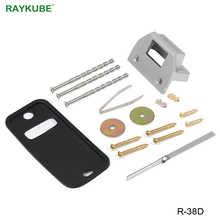RAYKUBE Mechanical Code Lock Keyless Digital Password Entry Door lock For Wooden Door Zinc Alloy Silver R-38D