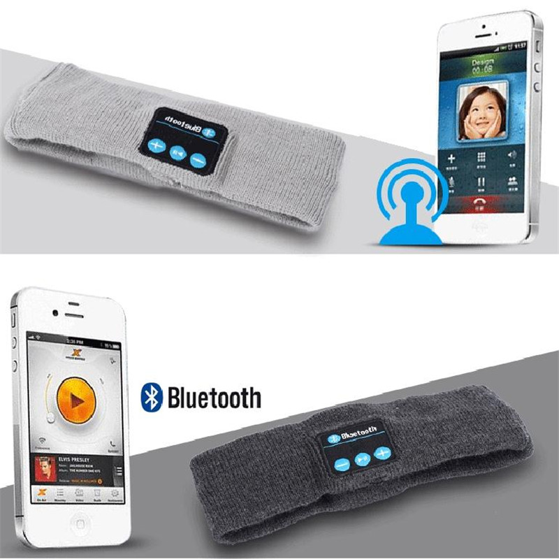 Wireless Bluetooth casque audio Knitting Headband Earpiece Headset Sleep Sports W/Mic Yoga Running Gym drop headphone for phone al ko 112896 jaso fd 1л