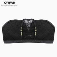 CYHWR Women Crop Top Bras Wirefree Padded Push Up Bra One Piece Seamless Bra Women Sexy