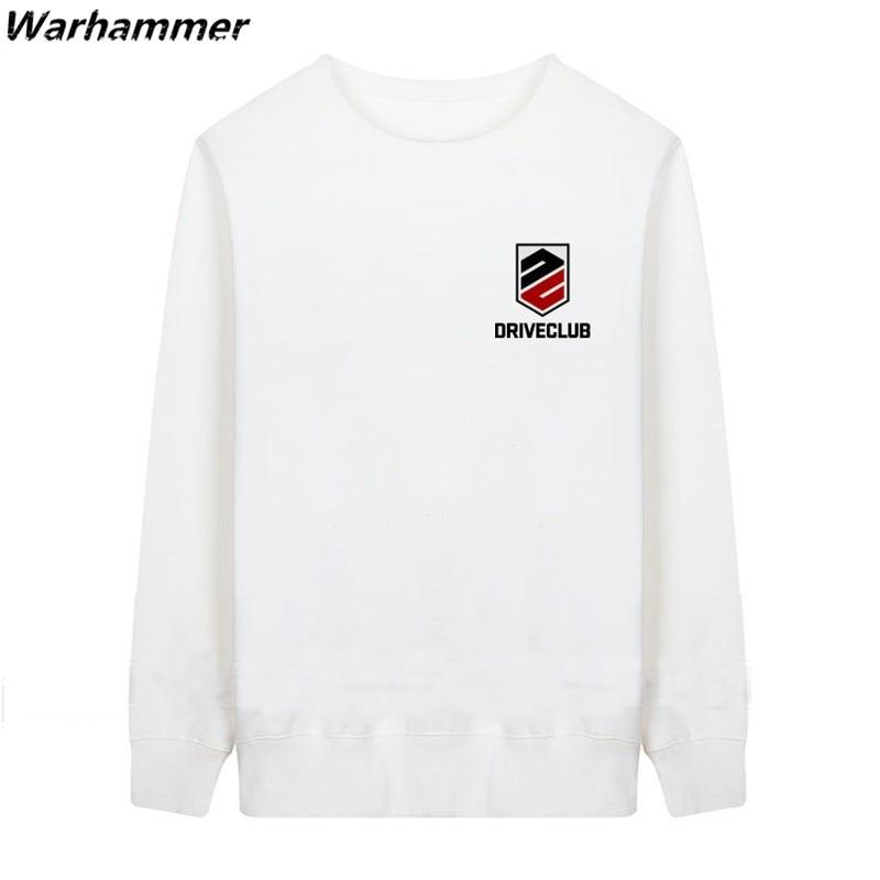 Drive Club Men Hoodies Embroidery Game Hoodie Black Sweatshirt Sudaderas Harajuku Pullover Moleton Feminino O-neck Cotton Jacket