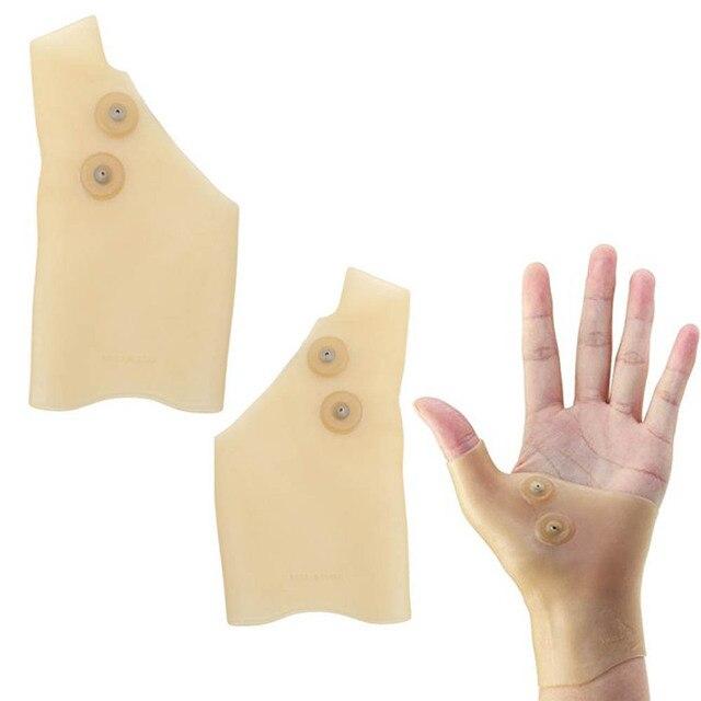 2 шт силиконовая Магнитная терапия гель запястье перчатка поддержка рука боль легкость здравоохранения SN-Hot