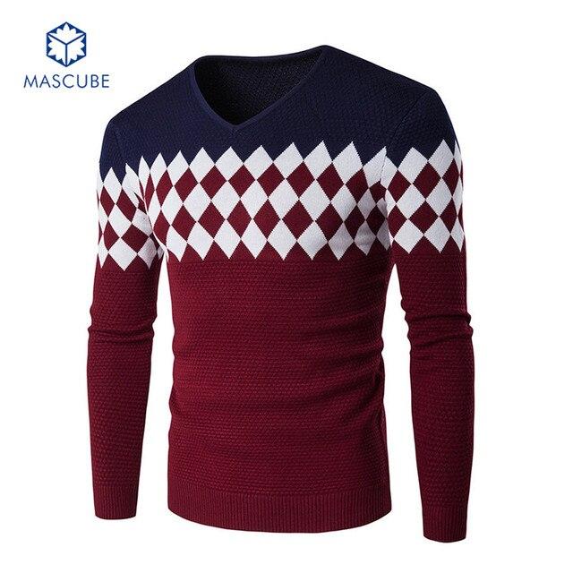 Men Sweaters Pullovers Knitting Designer Casual Cotton Slim Man Knitwear Winter Christmas Warm Brand clothing blusas de inverno