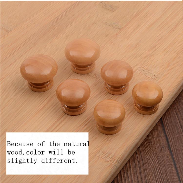unids natural de madera puerta del armario del cajn del gabinete perilla tire de la