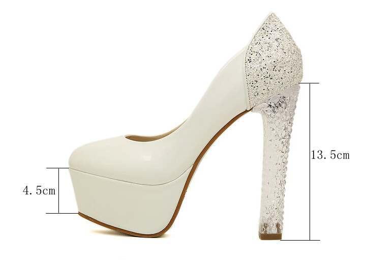 5276 Zapatos Zapatos De Mujer Sexy Toe Mujeres Ronda Bombas Zapatos Mujer Cuadrados Tacones Altos Bombas A Prueba De Agua 2 Colorea El Tamaño