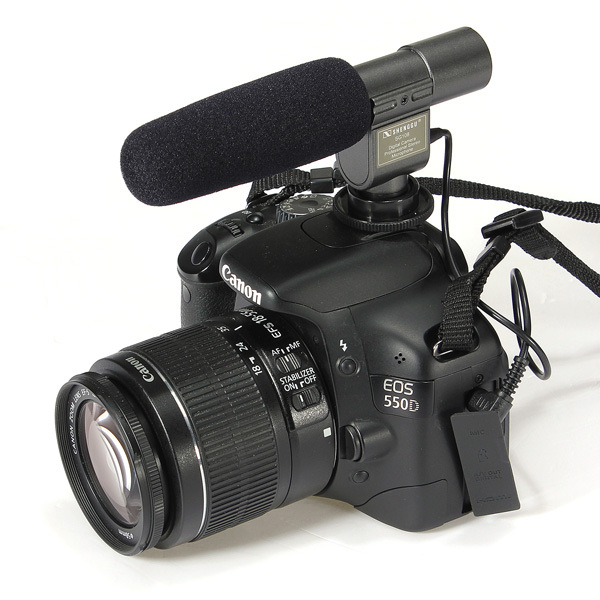 Professional SG-108 3.5mm LED DV Stereo Shotgun Microphone Mic For Camera DSLR SLR Canon eos T3i T2i 7D 5D 60D Nikon D3S D7000