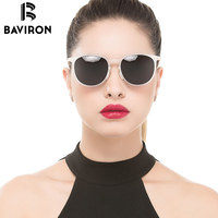 BAVIRON New Design Sunglasses Women Polarized Luxury Glasses Cat Eye Round Colorful Lens Lightweight Star Fashion