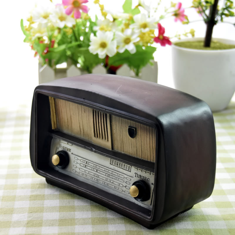 Loft Style Resin Radio Vintage Home Decor Antique Imitation Nostalgia Wireless Ornaments Craft Bar Home Decoration