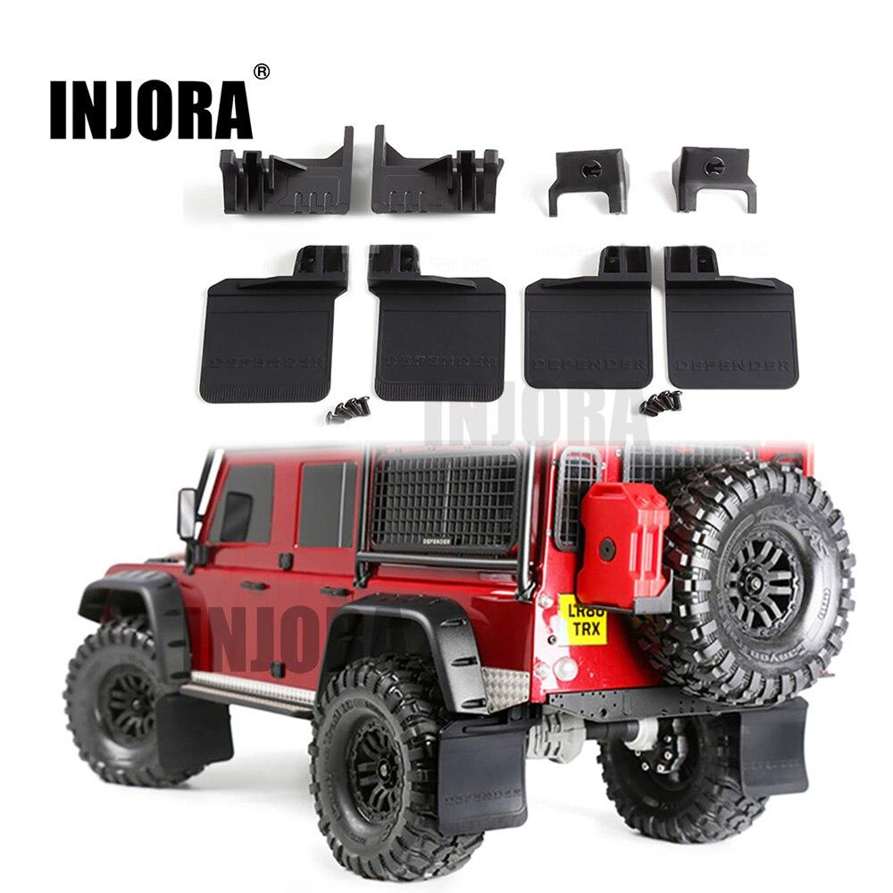 INJORA TRX4 Front & Rear Mud Flaps Rubber Fender for 1/10 RC Crawler Car Traxxas Trx-4 Trx 4