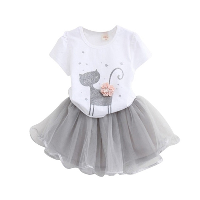 0fa0d3101 Girls 2018 Summer New Baby Girls Clothing Sets Fashion Style Cartoon ...
