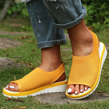 Women Sandals Ladies Breathable Comfort Hollow Out Casual Wedges Mesh Shoes Sandals Summer Female Soft Beach Shoes C50# 23