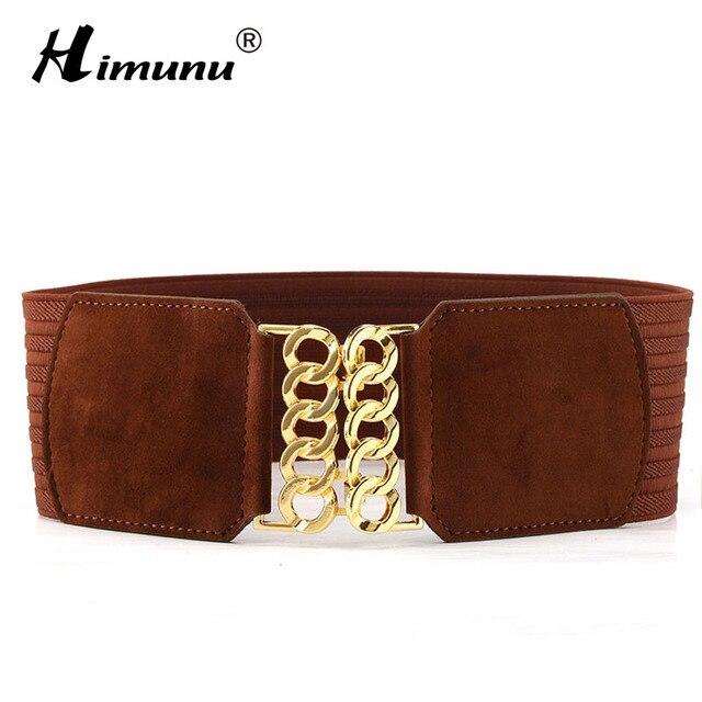 Himunu мода пояса для женщины засов пряжка широкий бренды эластичные пояса европейский и американский ремни женщины стиль поясом