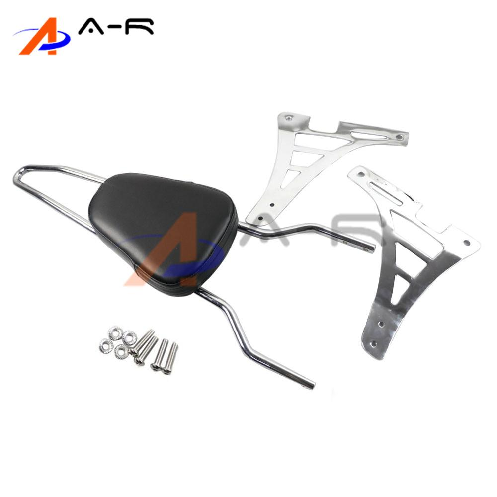 Motorcycle Parts Chrome Detachable Luggage Rack Passenger Backrest Sissy Bar for Harley Sportster XL 883 1200 2004-2015 chrome motorcycle solo luggage rack case for harley sportster xl 1200 iron seventy two 883 2004 2017
