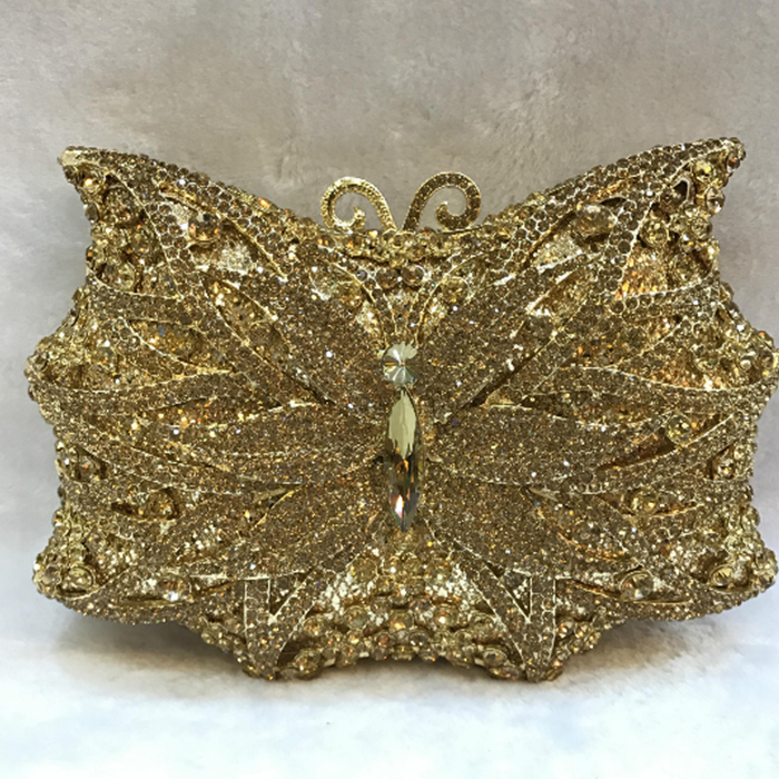 XIYUAN brand Flower Crystal Feast Bag Fuschia Rhinestone Wedding Bride Clutch Purse banquet Party bag Women Floral Evening Bag 2016 women fashion metallic rhinestone flower pattern crystal evening bag wedding bride clutch handbag