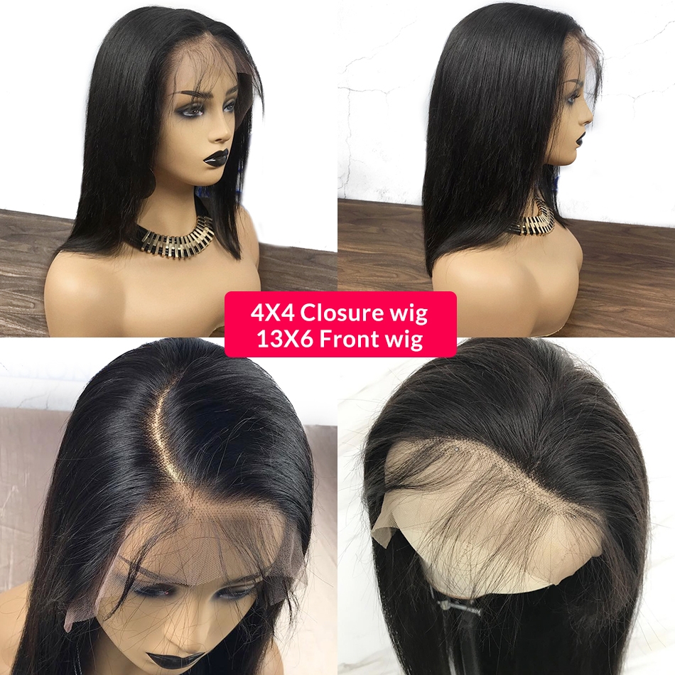 461abc253b6 Item Type: Wig Items per Package: 1 Piece Only Material: Human Hair Cap  Size: Average Size Texture: Straight Wigs Length: Short Material Grade: Virgin  Hair