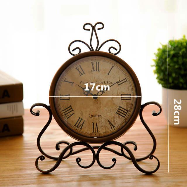 83125ce519c placeholder Tipo europa restaurar antigas formas moldura relógio de parede  relógio de ferro forjado relógio de mesa